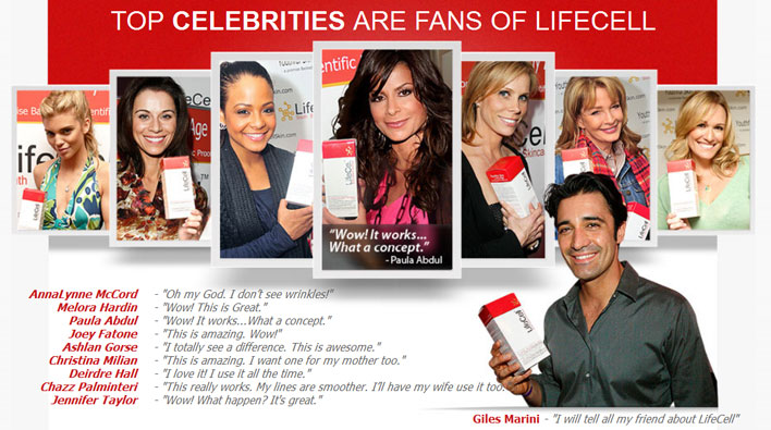Celebs using Lifecell